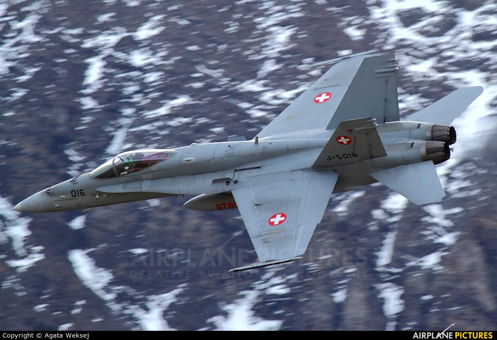 Switzerland - Air Force J-5016 aircraft at Axalp - Ebenfluh Range