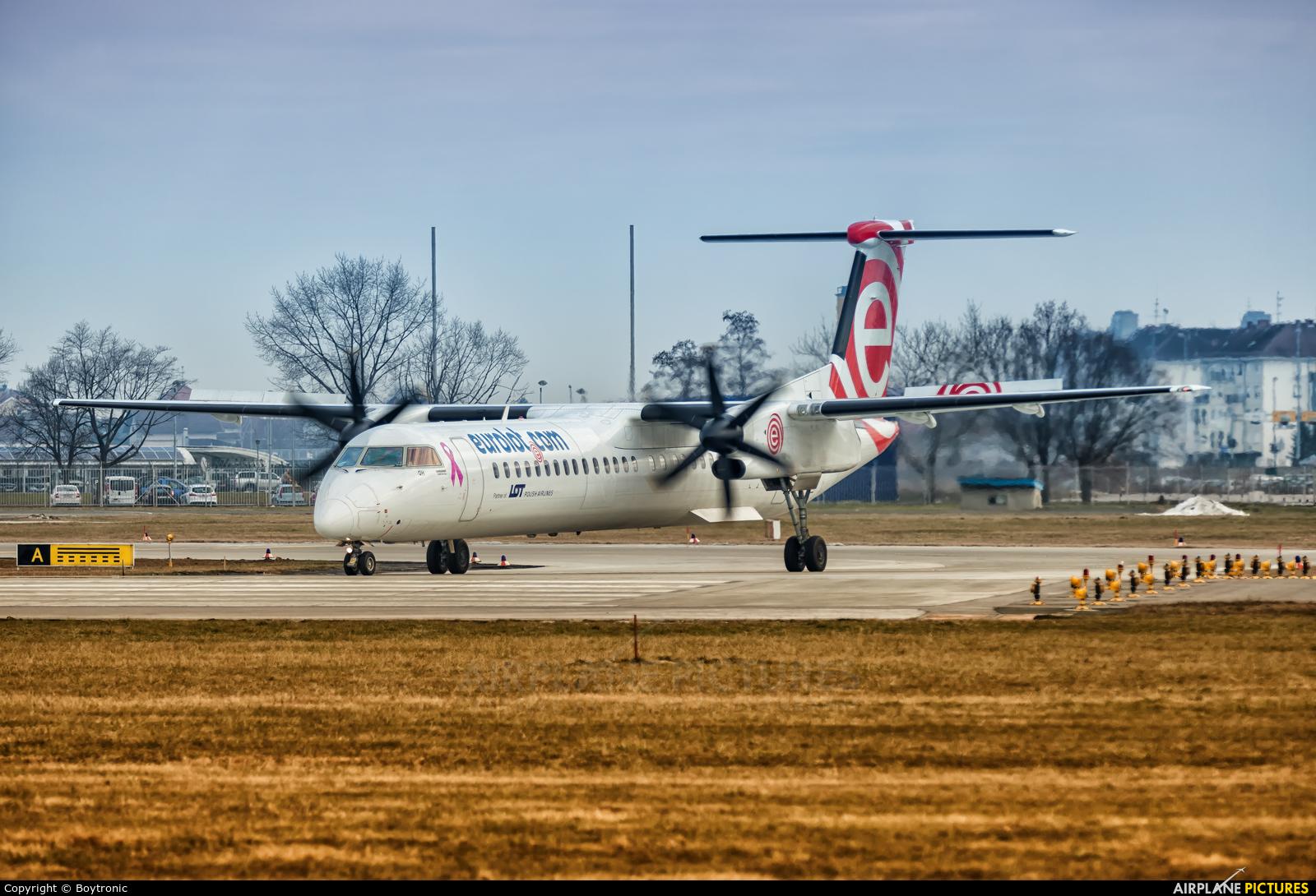 euroLOT SP-EQH aircraft at Zagreb