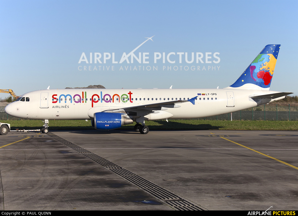 Small Planet Airlines LY-SPG aircraft at Dublin