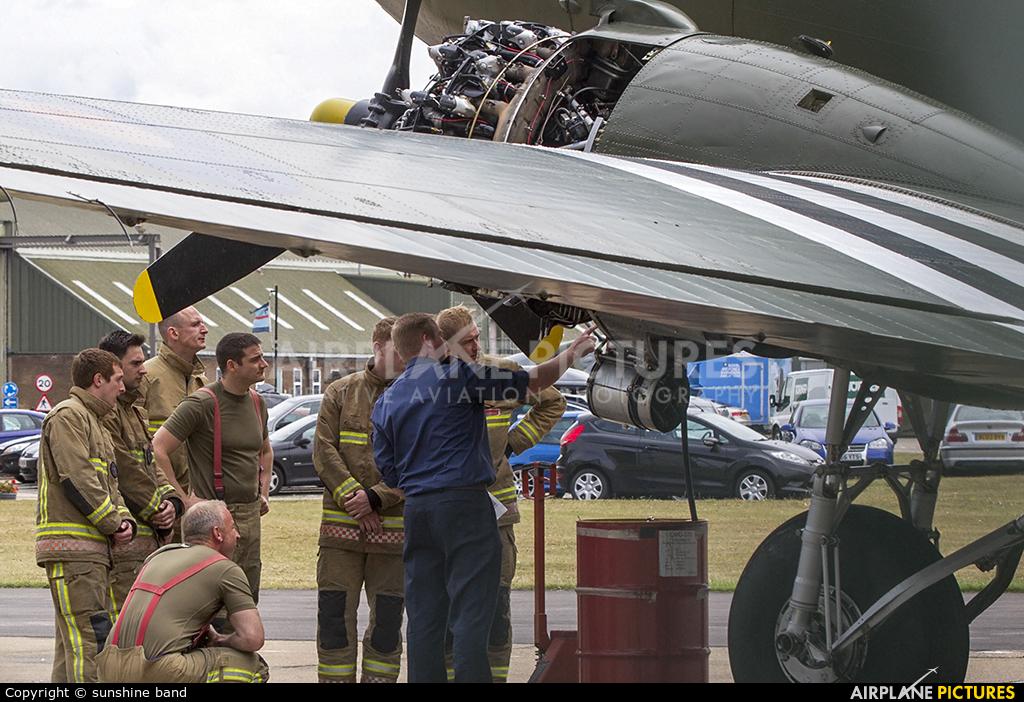 """Royal Air Force """"Battle of Britain Memorial Flight"""" ZA947 aircraft at Waddington"""