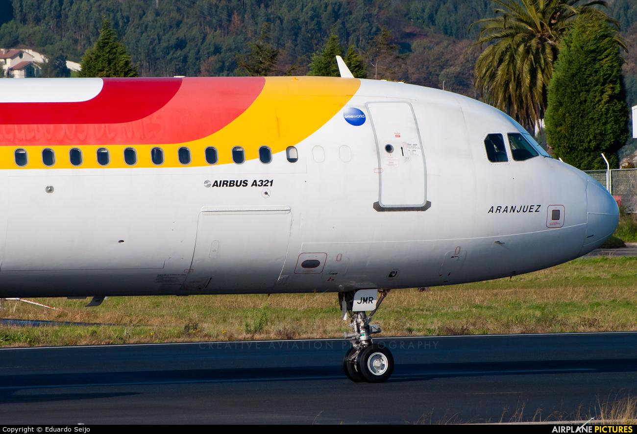 Iberia EC-JMR aircraft at La Coruña