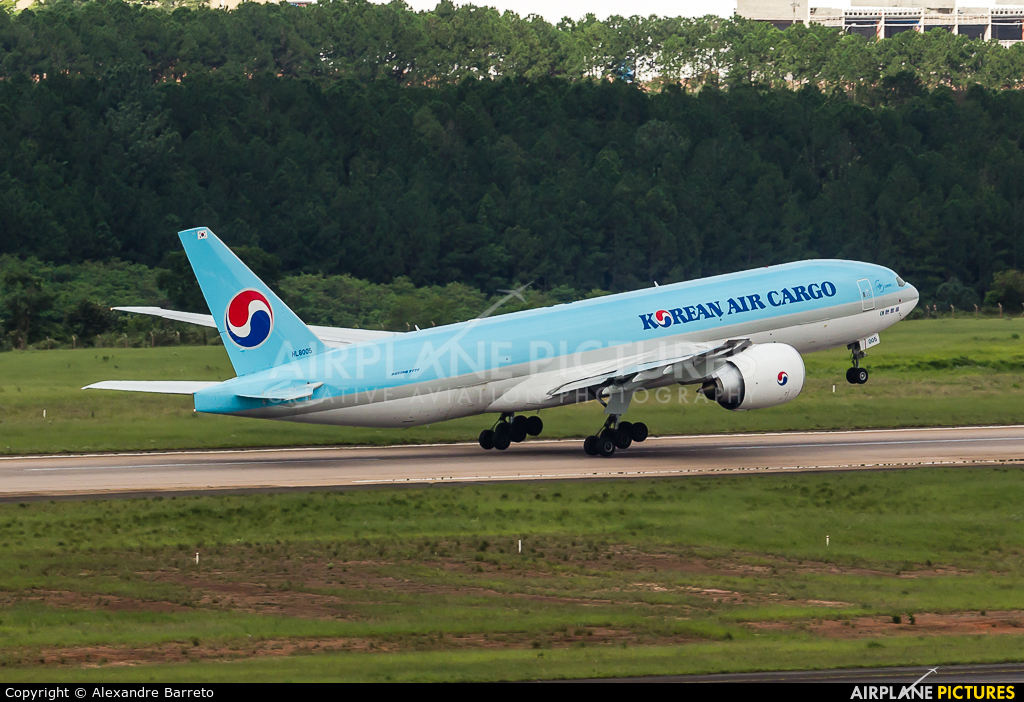 Korean Air Cargo HL8005 aircraft at Campinas - Viracopos Intl
