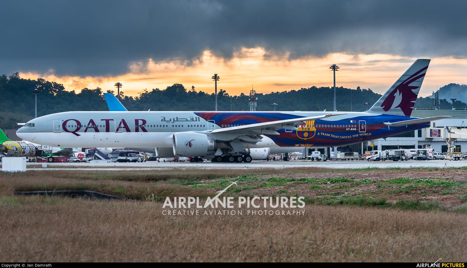 Qatar Airways A7-BAE aircraft at Phuket