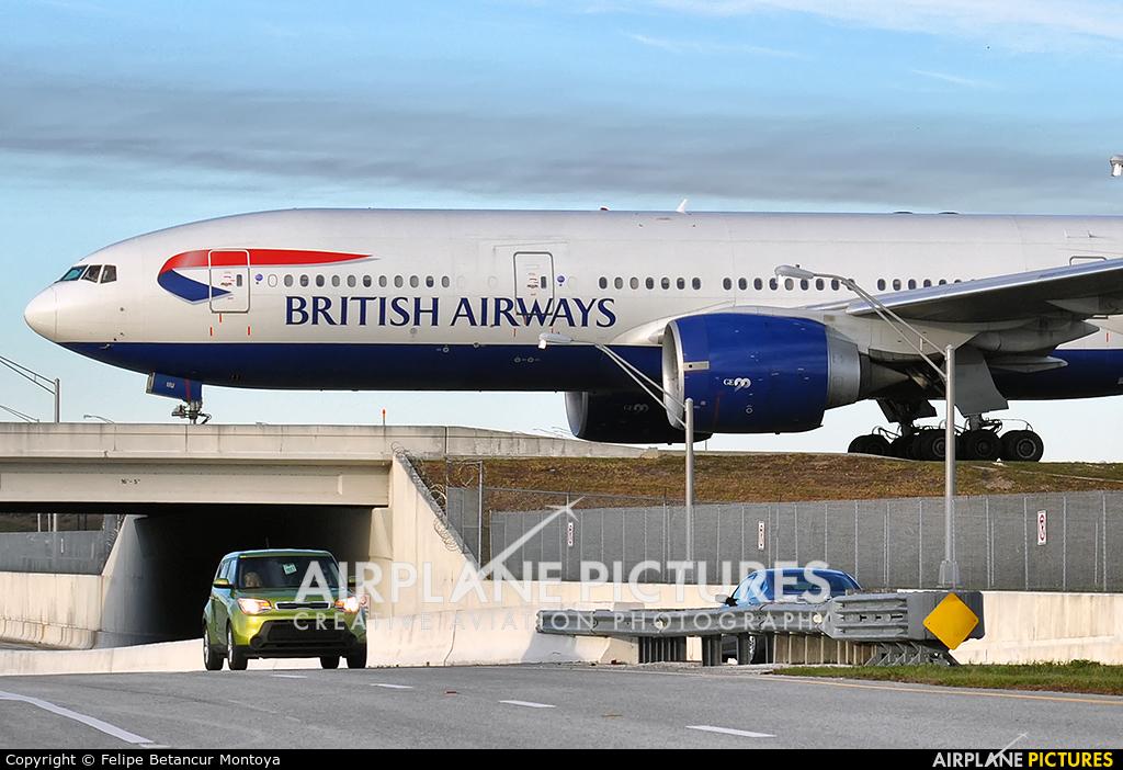 British Airways G-VIIU aircraft at Orlando Intl