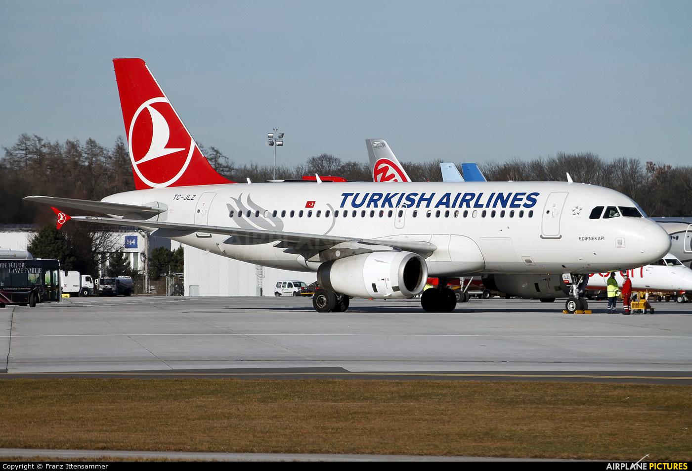 Turkish Airlines TC-JLZ aircraft at Salzburg