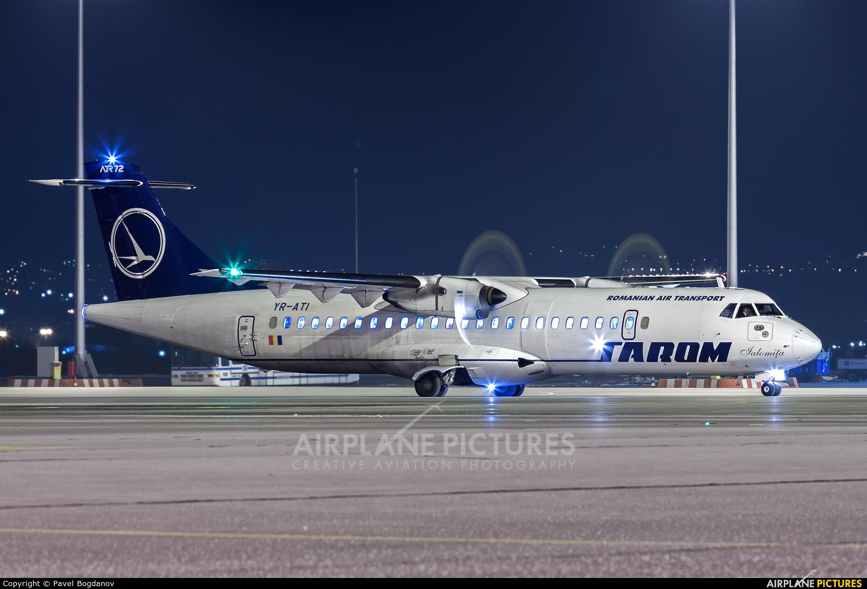Tarom YR-ATI aircraft at Sofia