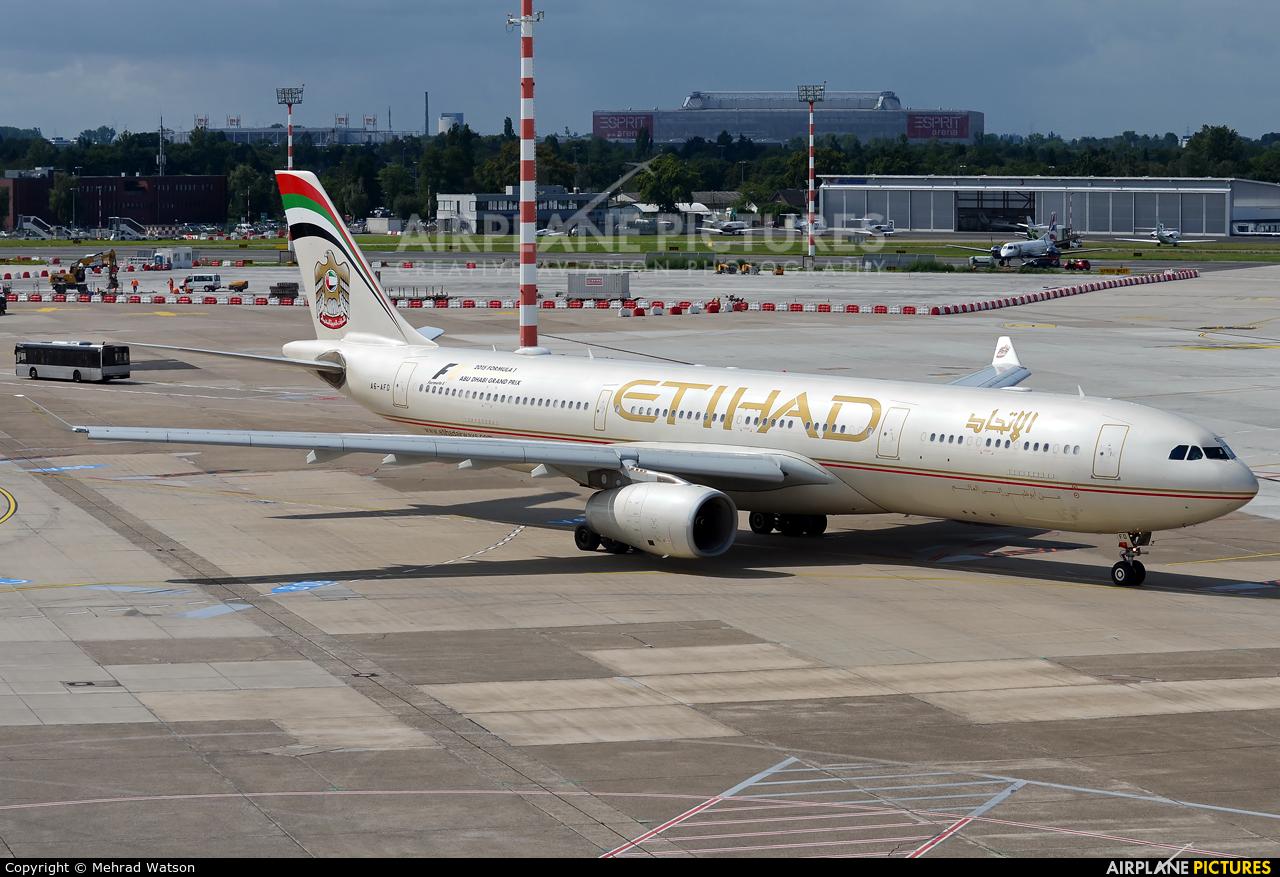 Etihad Airways A6-AFD aircraft at Düsseldorf