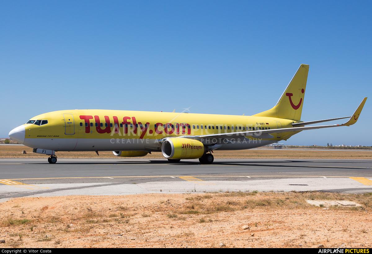 TUIfly D-AHFI aircraft at Faro