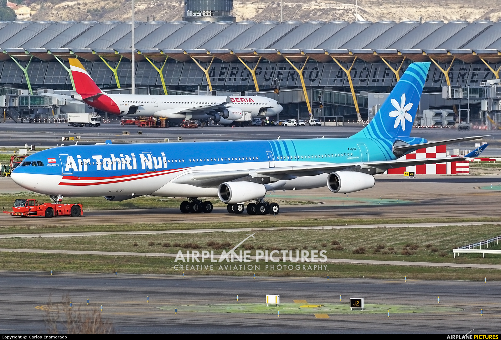 Air Tahiti Nui F-OJGF aircraft at Madrid - Barajas