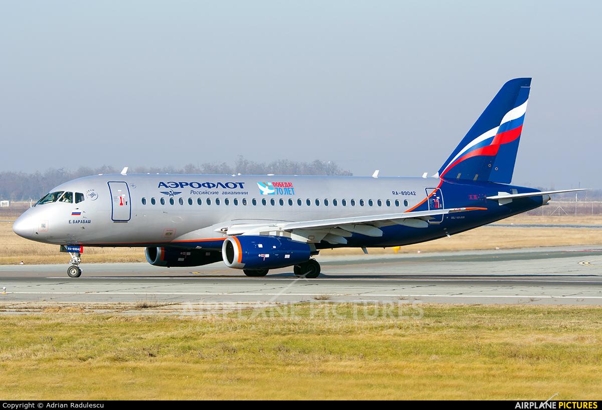 Aeroflot RA-89042 aircraft at Bucharest - Henri Coandă