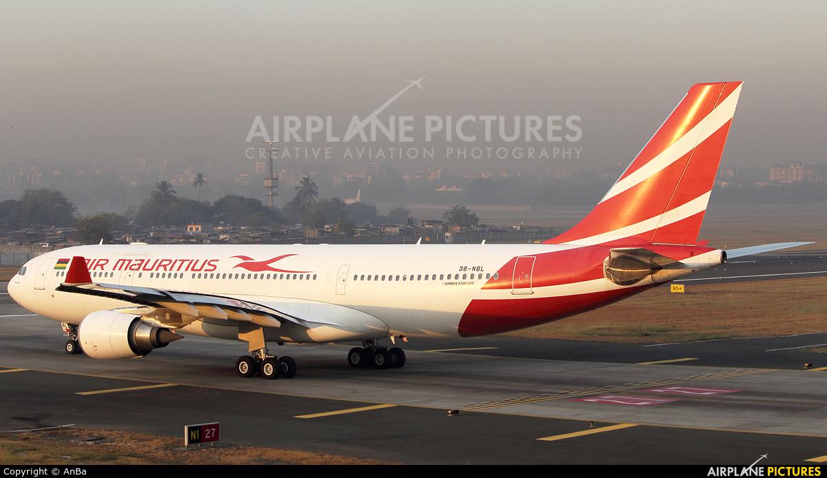 Air Mauritius 3B-NBL aircraft at Mumbai - Chhatrapati Shivaji Intl
