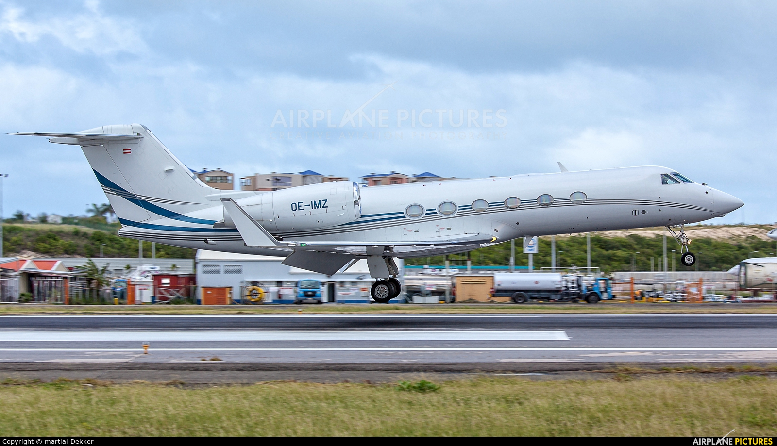 Avcon Jet OE-IMZ aircraft at Sint Maarten - Princess Juliana Intl