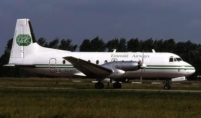 G-BGMO - Emerald Airways Hawker Siddeley HS.748