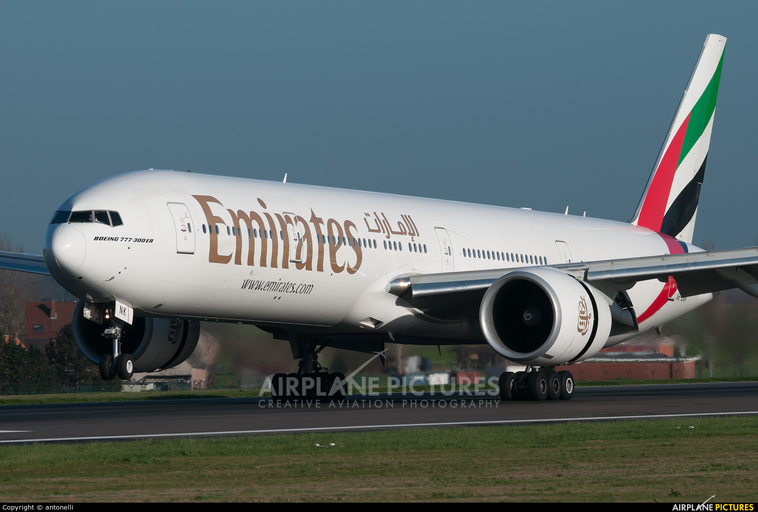 Emirates Airlines A6-ENK aircraft at Brussels - Zaventem