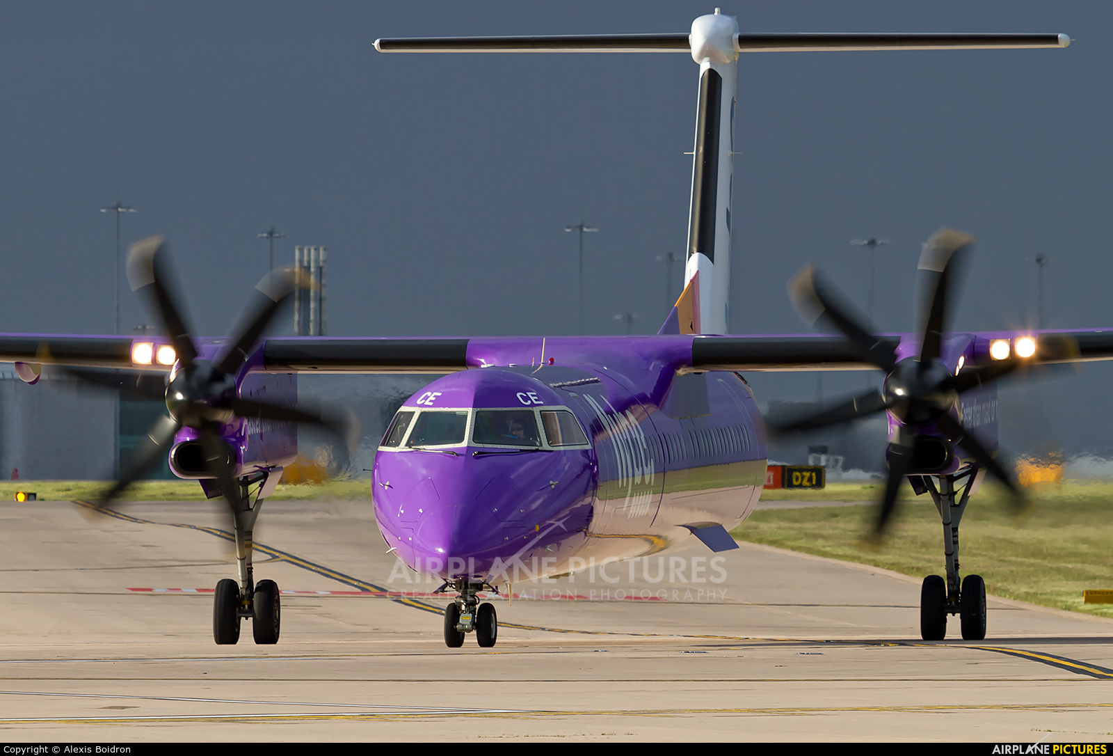 Flybe G-JECE aircraft at Manchester