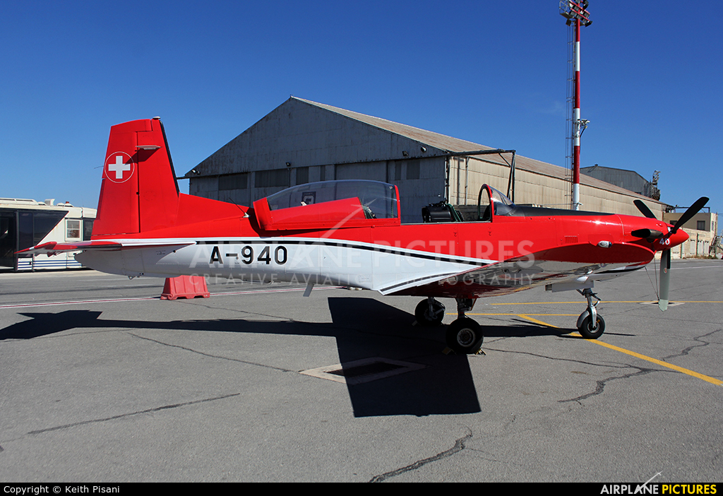 Switzerland - Air Force: PC-7 Team A-940 aircraft at Malta Intl