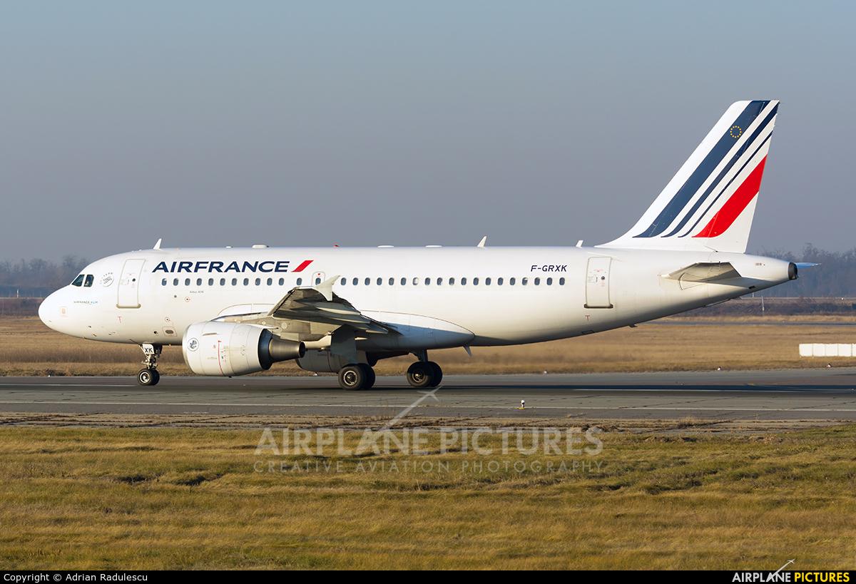 Air France F-GRXK aircraft at Bucharest - Henri Coandă