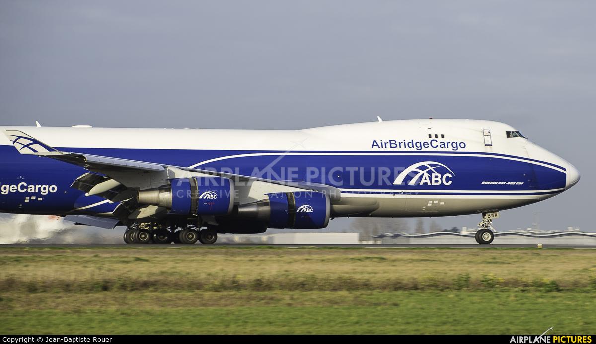 Air Bridge Cargo VQ-BWW aircraft at Paris - Charles de Gaulle