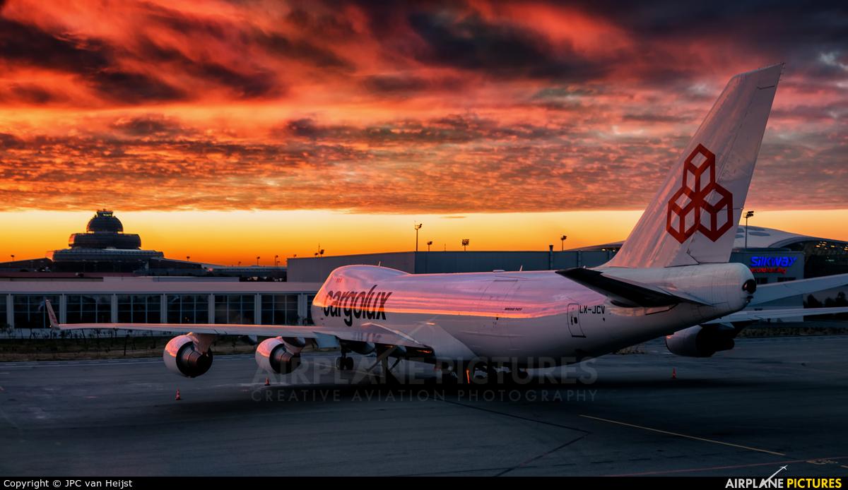 Cargolux LX-JCV aircraft at Baku - Bina / Heydar Aliyev Intl