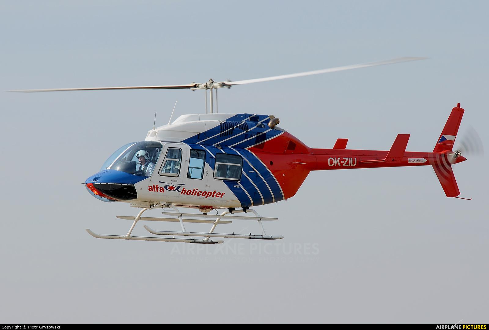 Alfa Helicopter OK-ZIU aircraft at Náměšť nad Oslavou