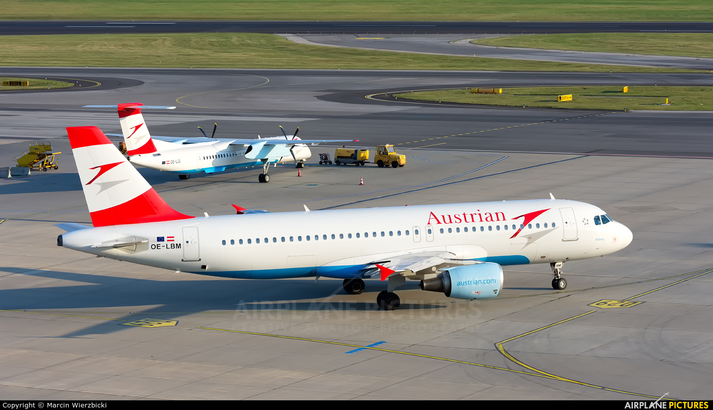 Austrian Airlines/Arrows/Tyrolean OE-LBM aircraft at Vienna - Schwechat