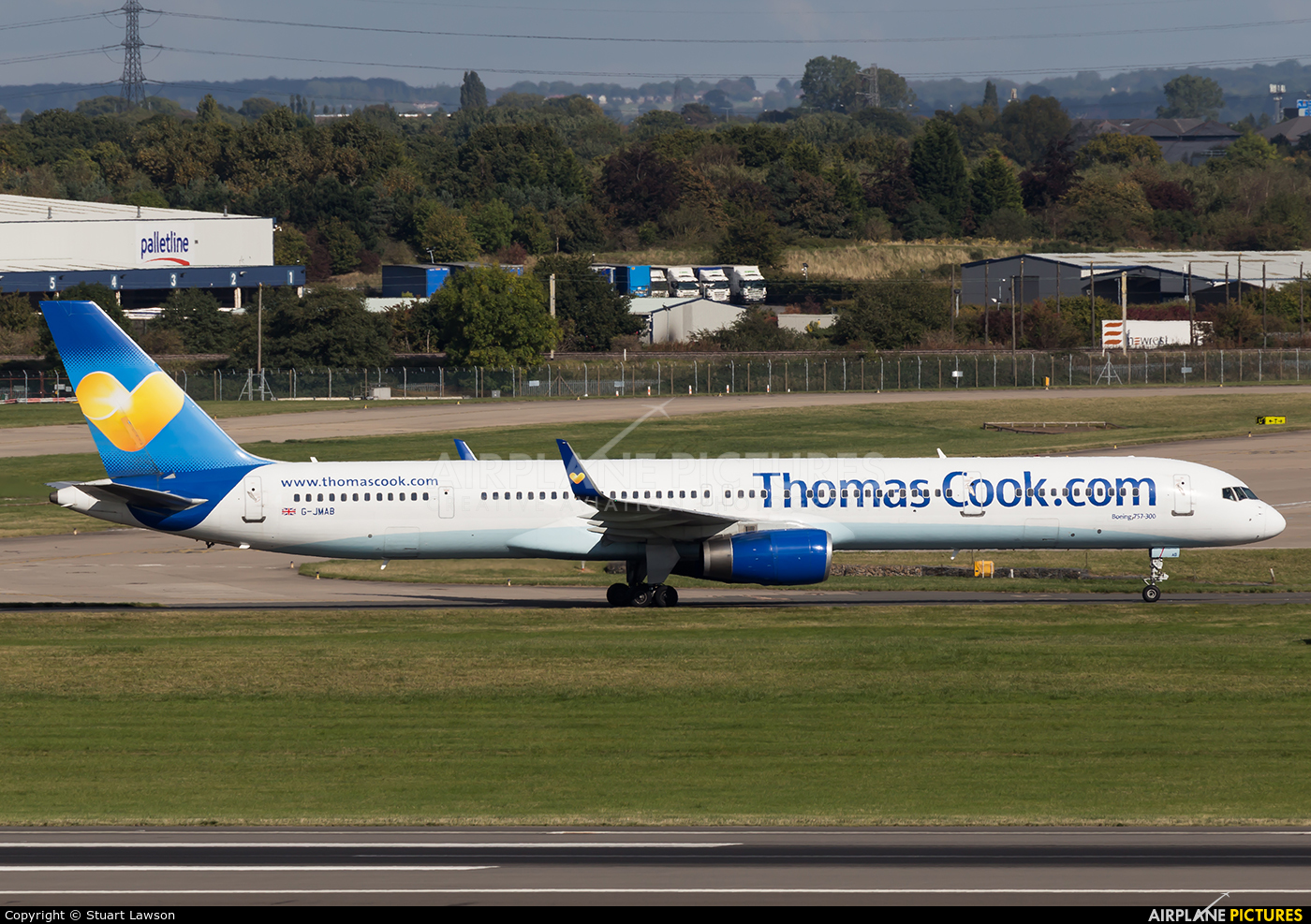 Thomas Cook G-JMAB aircraft at Birmingham