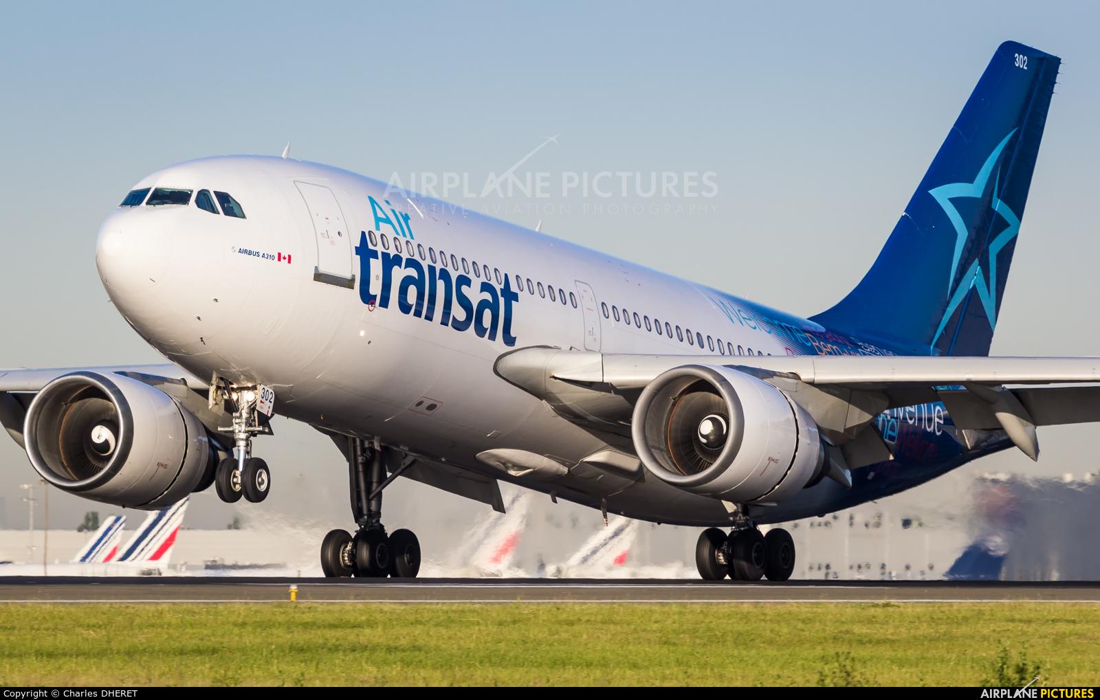 Air Transat C-GLAT aircraft at Paris - Charles de Gaulle