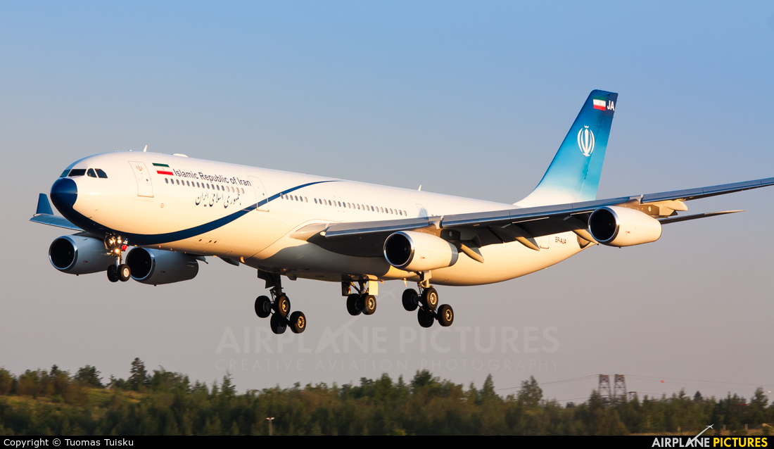 Iran - Government EP-AJA aircraft at Helsinki - Vantaa