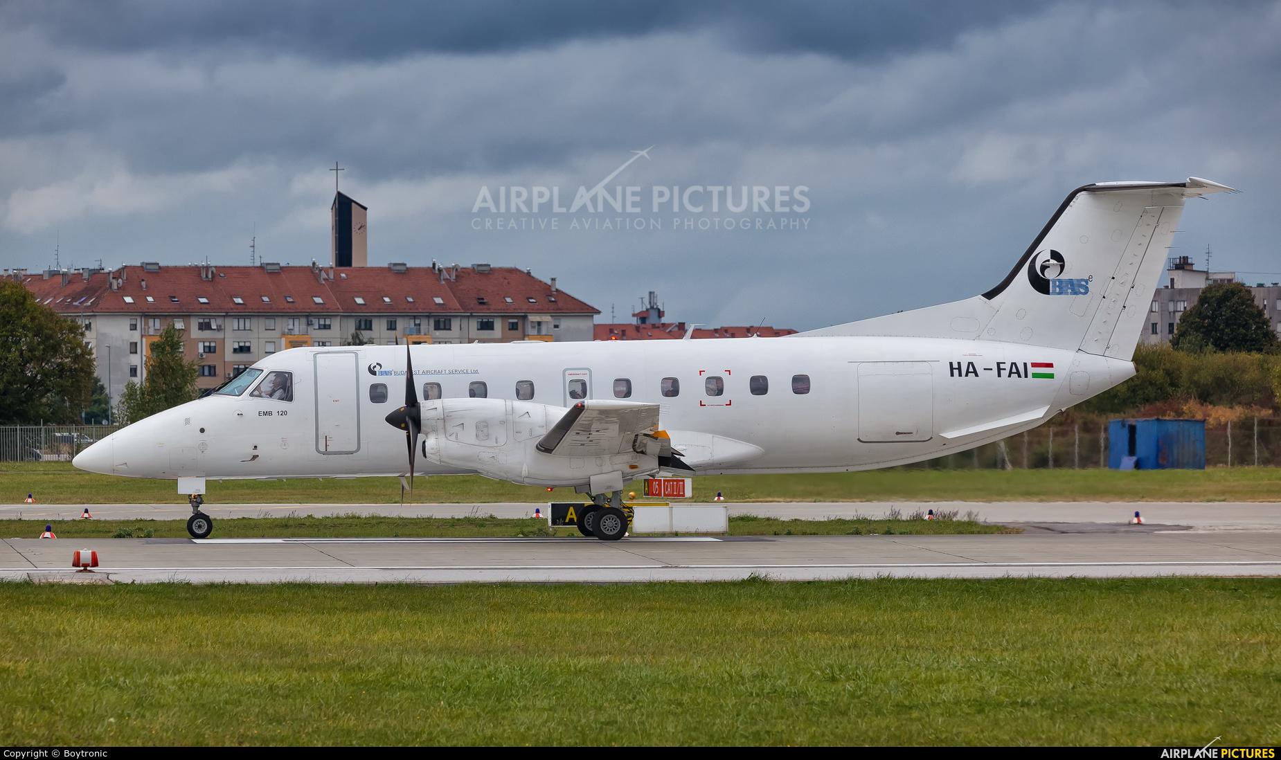 Budapest Aircraft Service HA-FAI aircraft at Zagreb