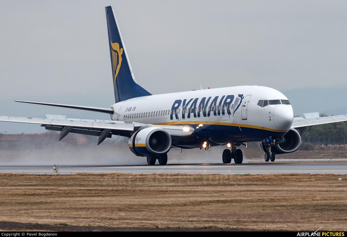 Ryanair EI-EBD aircraft at Sofia