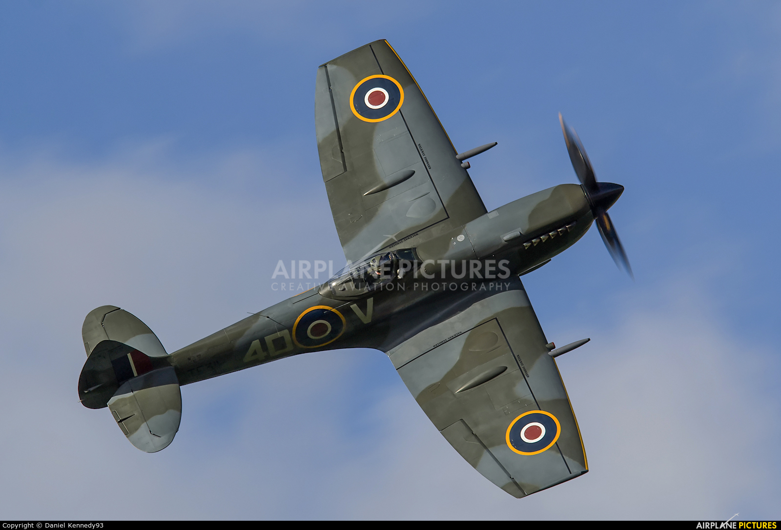 "Royal Air Force ""Battle of Britain Memorial Flight"" TE311 aircraft at Coningsby"