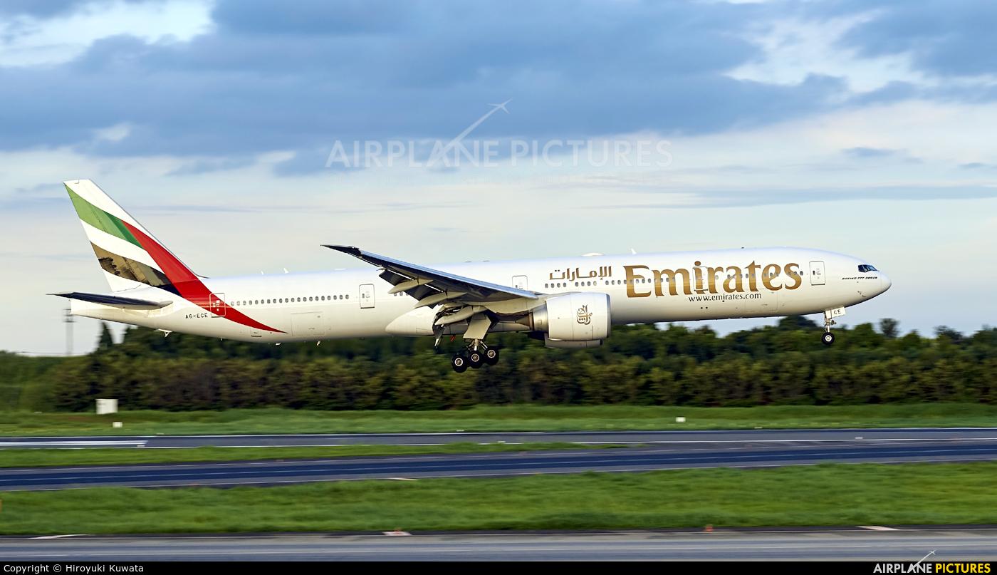Emirates Airlines A6-ECE aircraft at Tokyo - Narita Intl