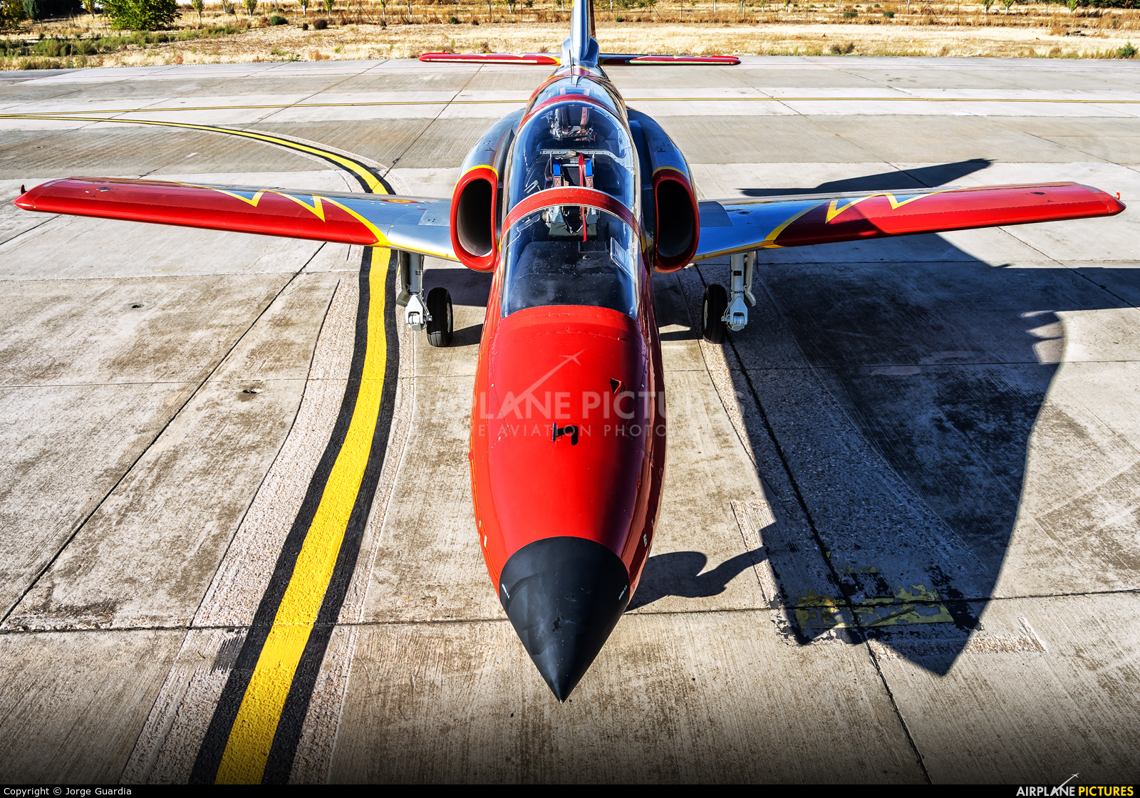 Spain - Air Force : Patrulla Aguila E.25-62 aircraft at Madrid - Getafe