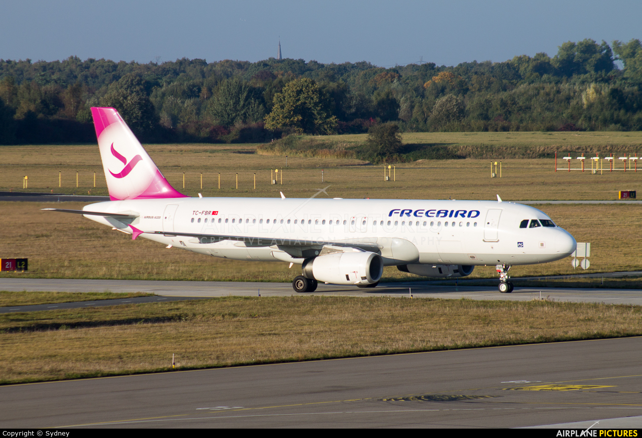 FreeBird Airlines TC-FBR aircraft at Eindhoven