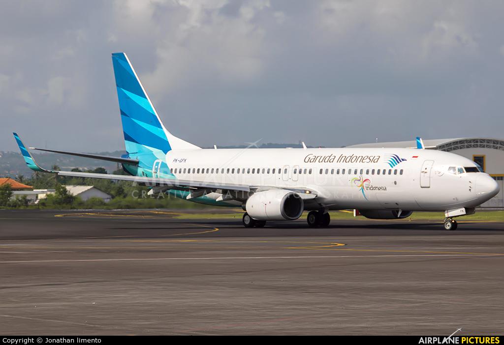 Garuda Indonesia PK-GFK aircraft at Denpasar- Ngurah Rai Intl
