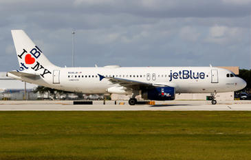N586JB - JetBlue Airways Airbus A320
