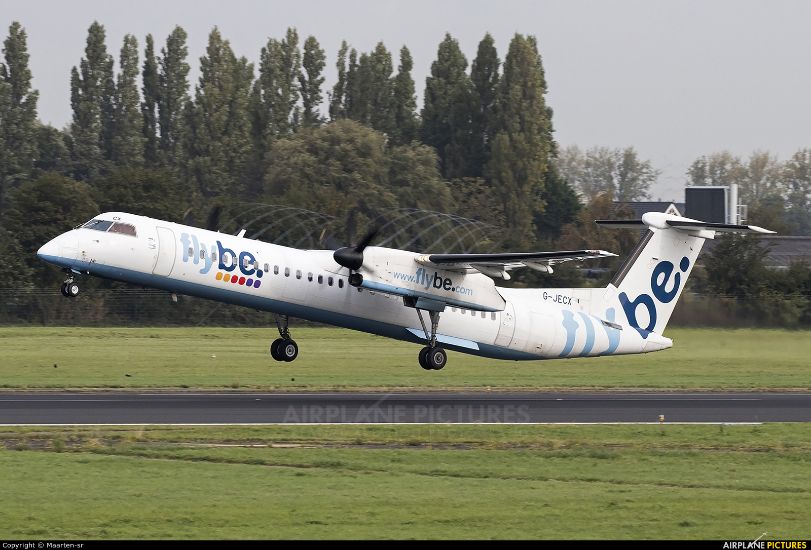 Flybe G-JECX aircraft at Rotterdam