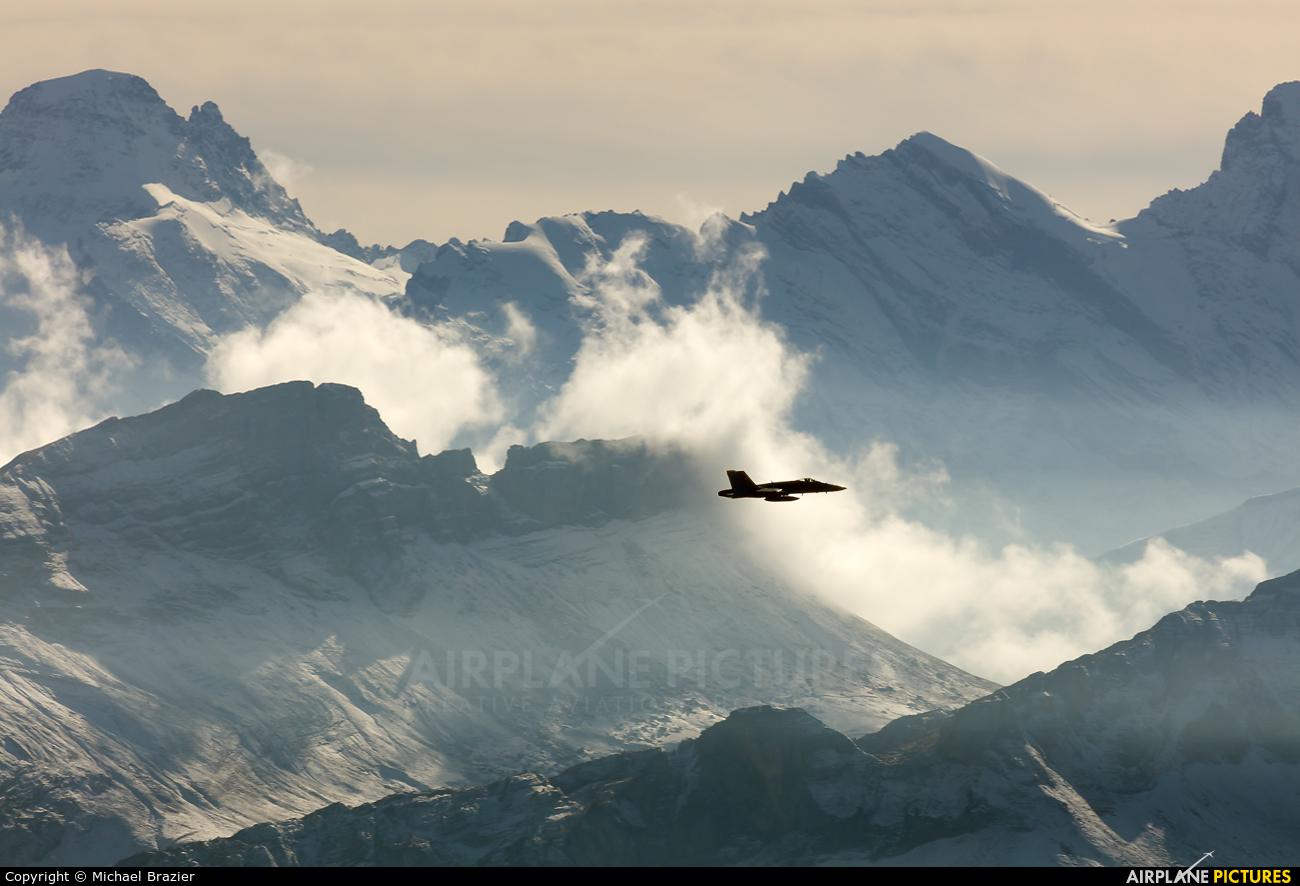 Switzerland - Air Force J-50** aircraft at Off Airport - Swiss Alps
