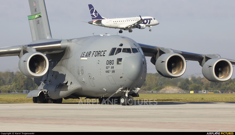 USA - Air Force 00-0180 aircraft at Warsaw - Frederic Chopin