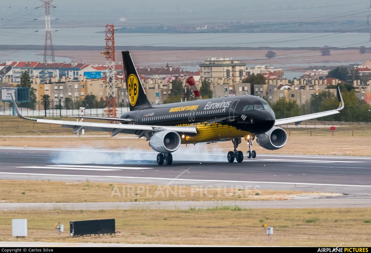 Eurowings D-AIZR aircraft at Lisbon