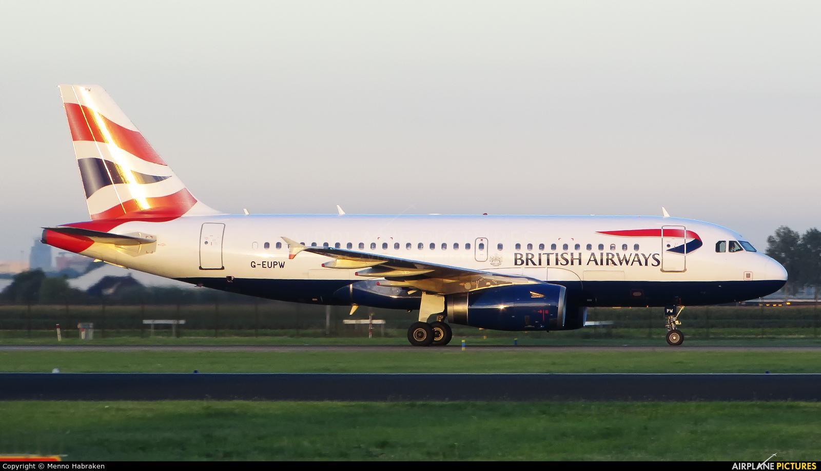British Airways G-EUPW aircraft at Amsterdam - Schiphol
