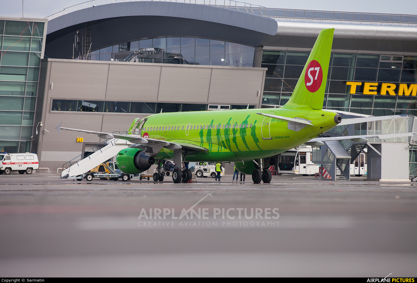 S7 Airlines VP-BHJ aircraft at Kazan