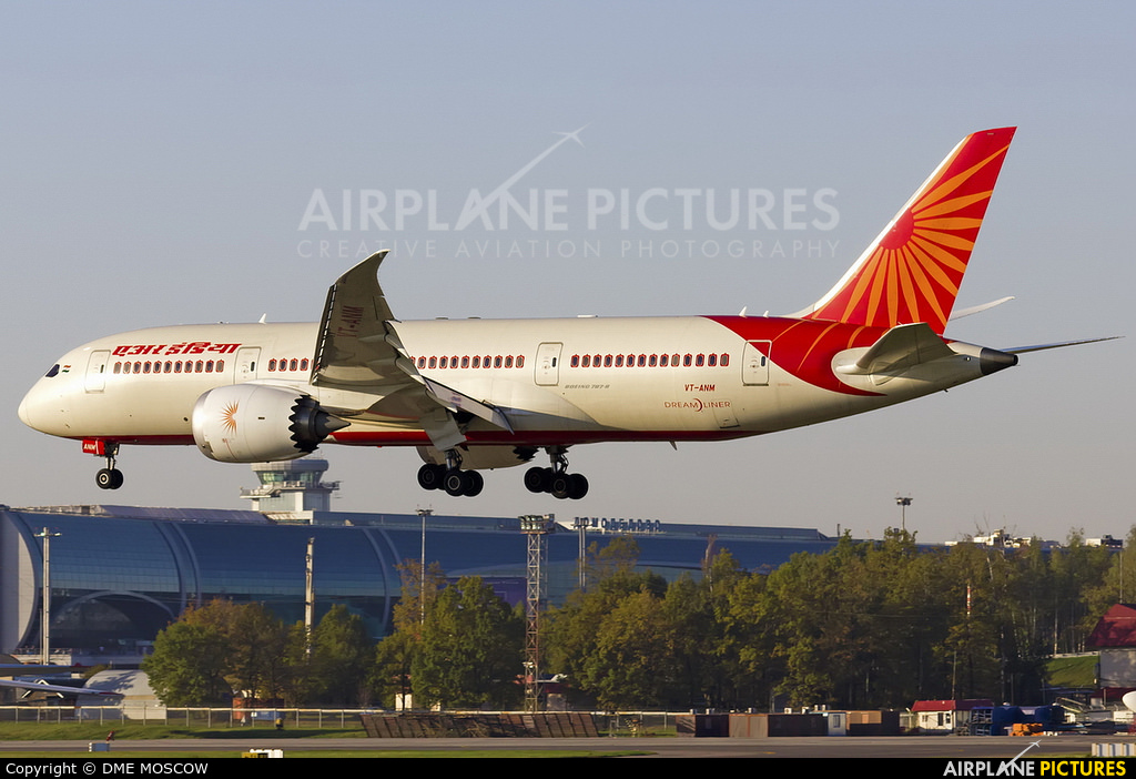Air India VT-ANM aircraft at Moscow - Domodedovo