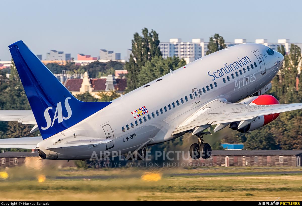 SAS - Scandinavian Airlines LN-RPW aircraft at Berlin - Tegel