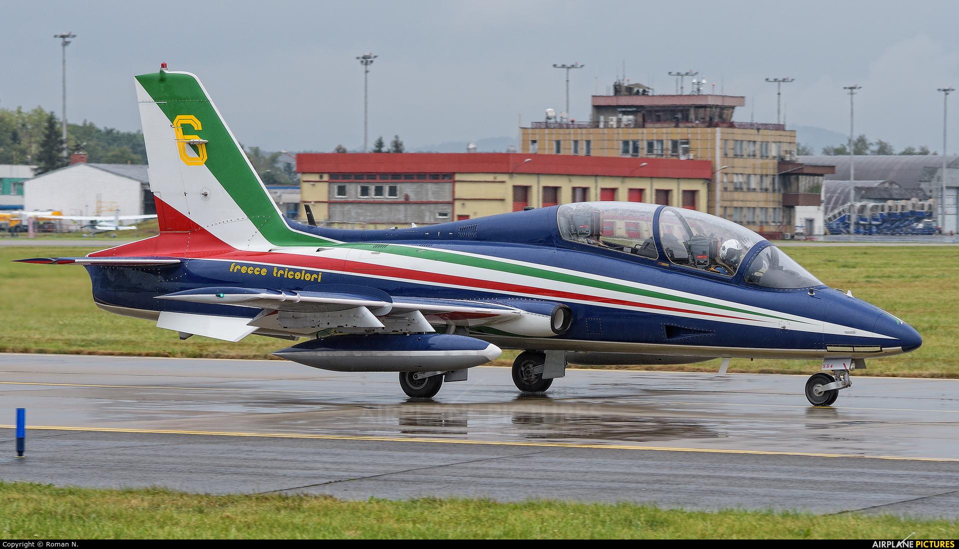 "Italy - Air Force ""Frecce Tricolori"" MM54534 aircraft at Ostrava Mošnov"