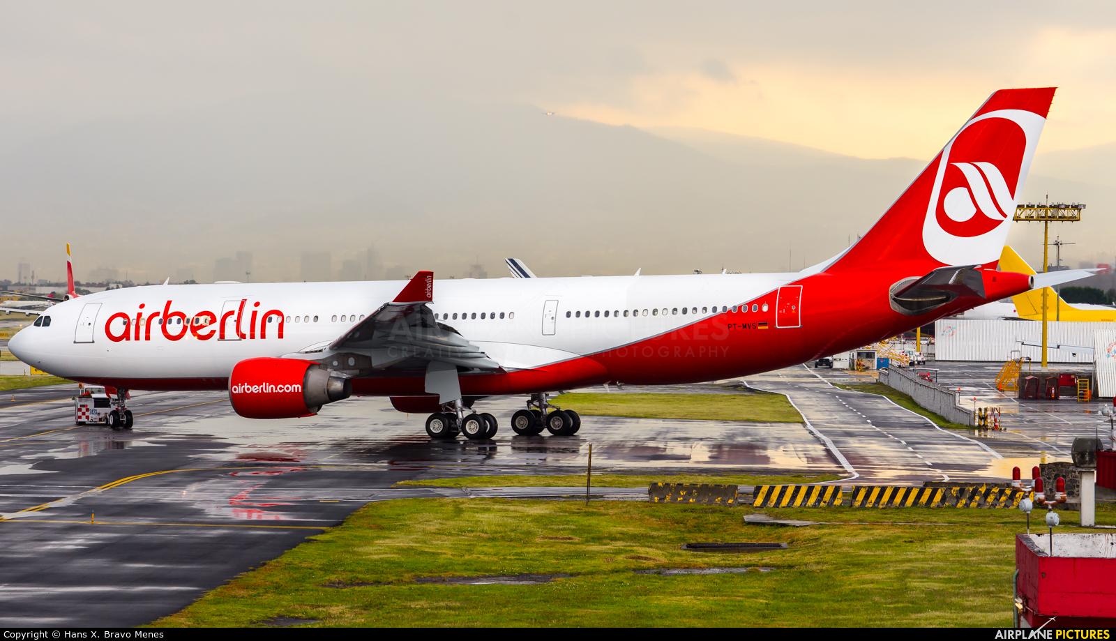 Air Berlin PT-MVS aircraft at Mexico City - Licenciado Benito Juarez Intl