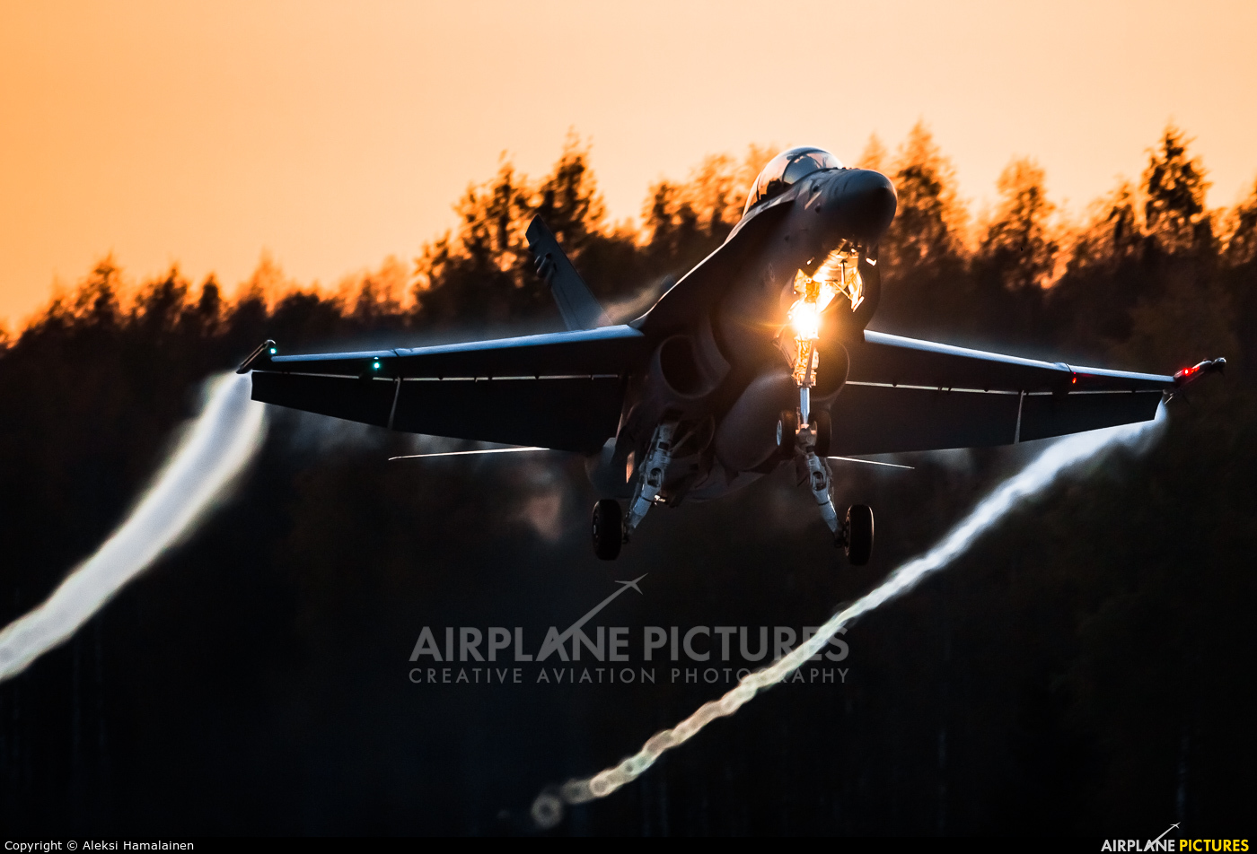 Finland - Air Force HN-462 aircraft at Off Airport - Lusi Highway Strip