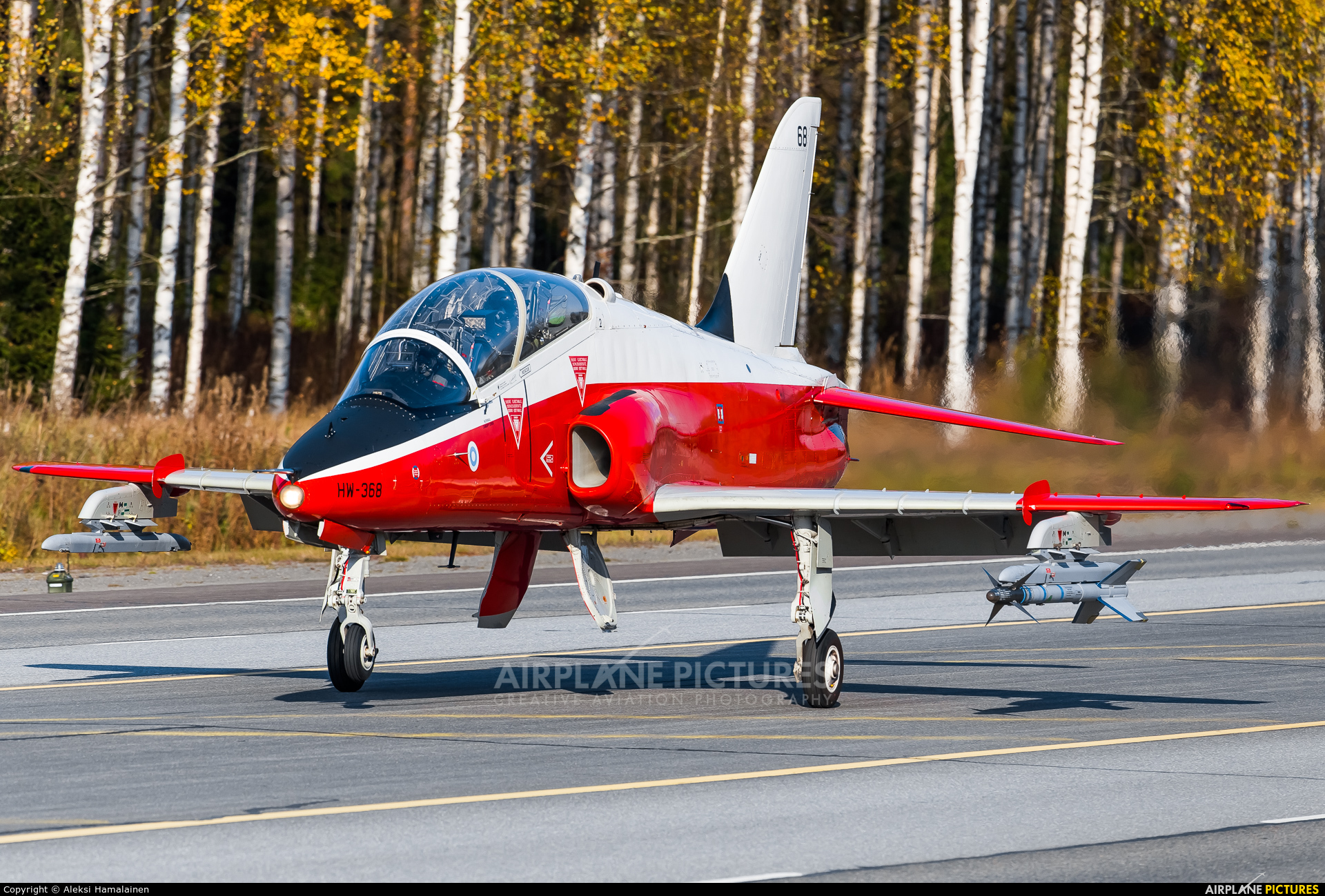 Finland - Air Force HW-368 aircraft at Off Airport - Lusi Highway Strip