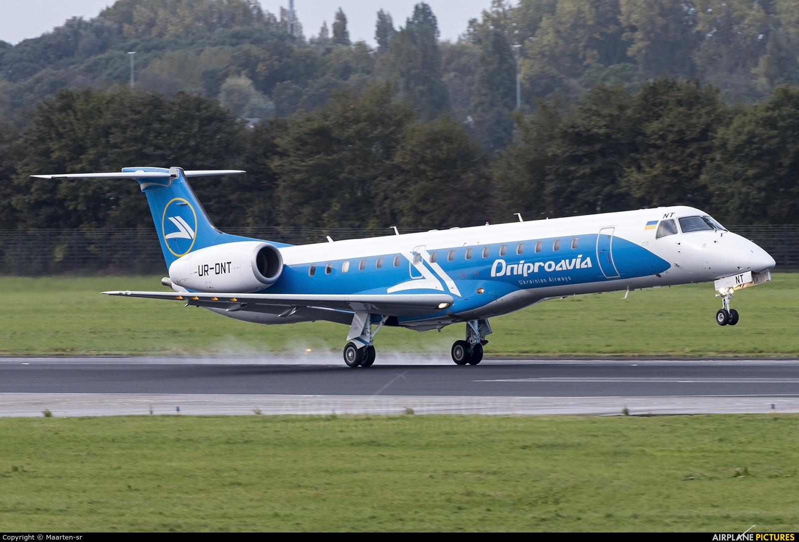 Dniproavia UR-DNT aircraft at Rotterdam