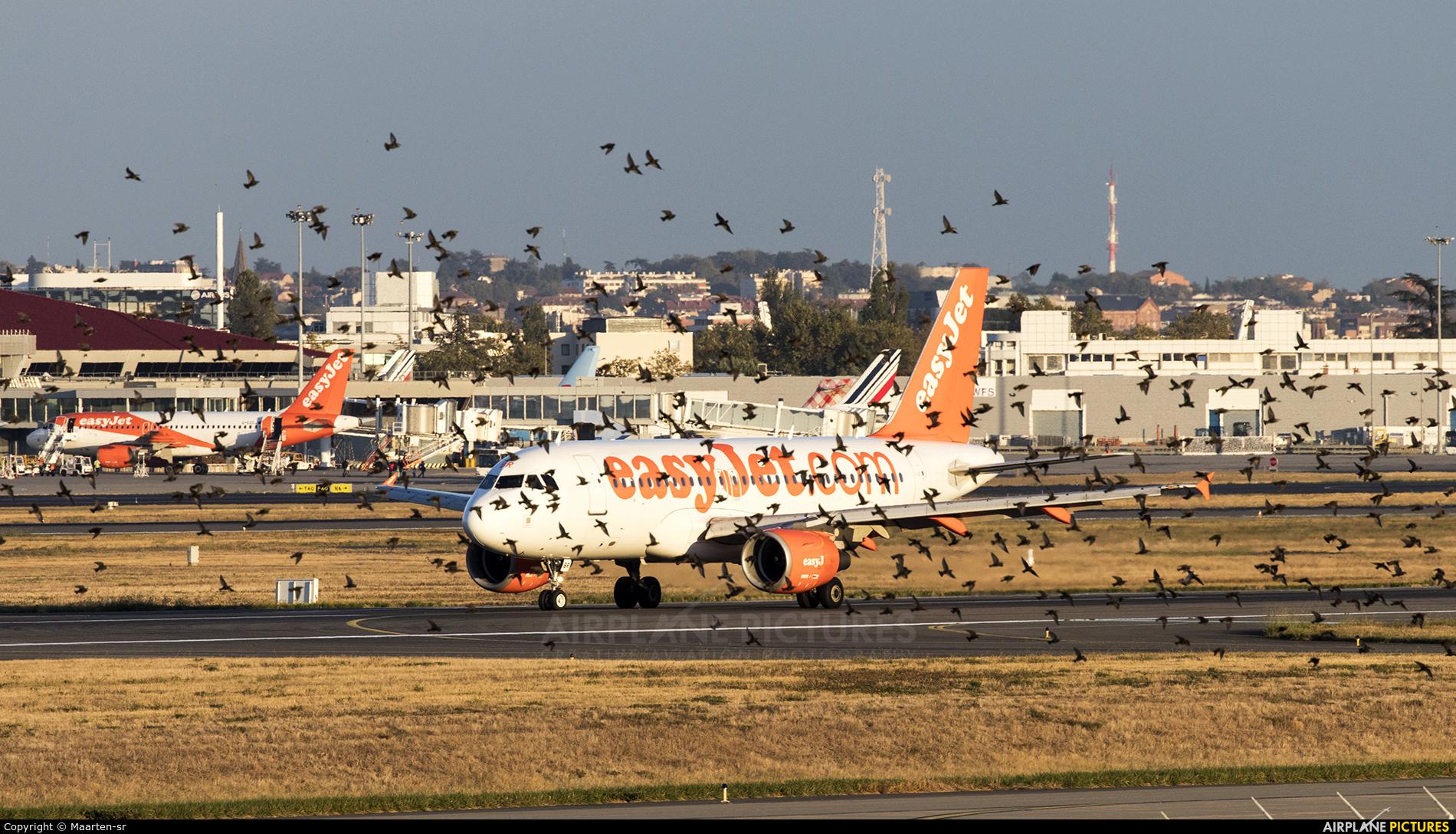 easyJet G-EZBR aircraft at Toulouse - Blagnac